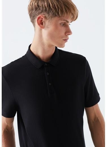 Mavi  Polo Tişört Siyah